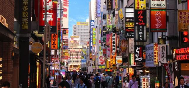 繁華街の風景